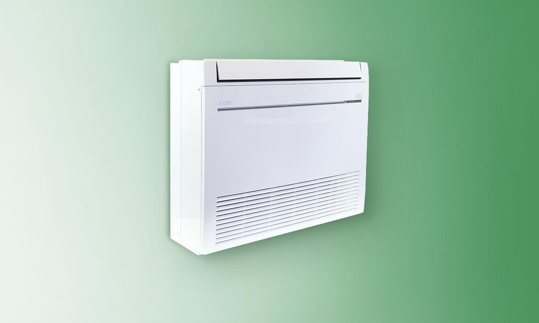 ductless AC floor-mounted indoor unit