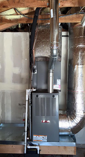 Installation of a new furnace in Modesto