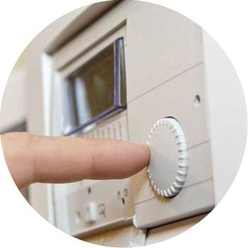 setting a thermostat after repairs