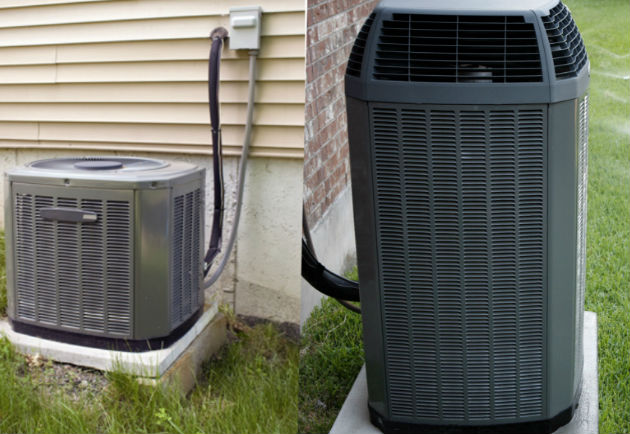 Oversized air conditioner draws excessive power