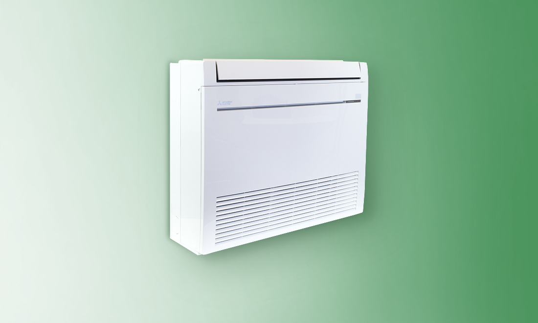 ductless AC floor-mounted indoor unit