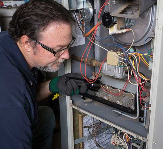 Fixing the wiring in a gas furnace