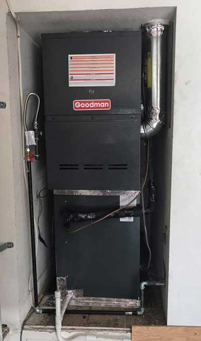 goodman furnace installation in Modesto