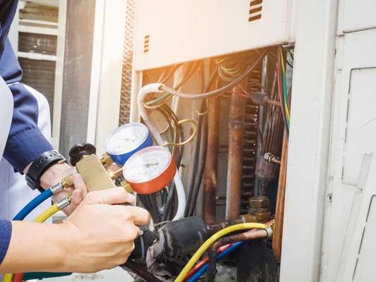 AC repair in progress
