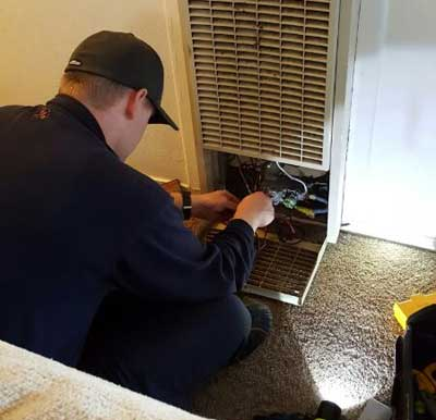 Jim is doing a furnace repair in Tracy