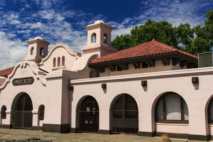 Southern Pacific train station in Modesto, California