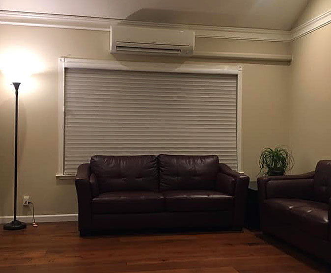 After the installation of a Mitsubishi ductless air conditioner