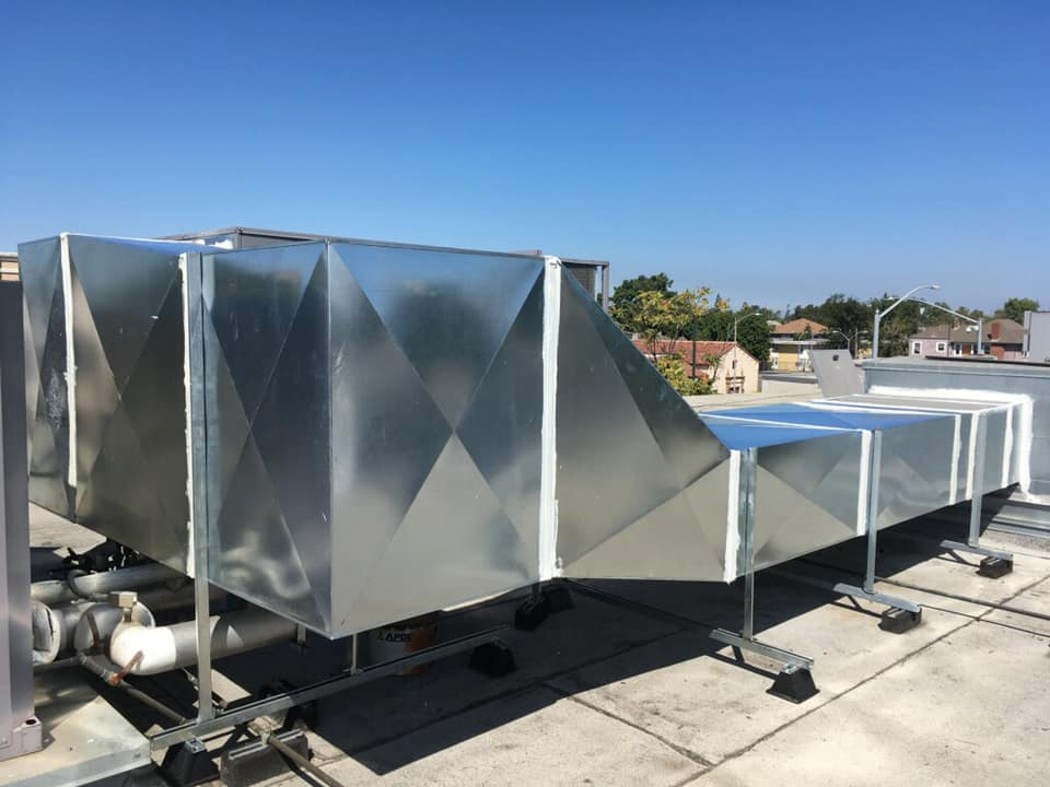15 ton package unit with custom duct work