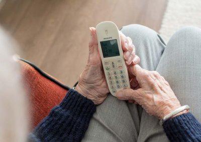 a senior woman indoors