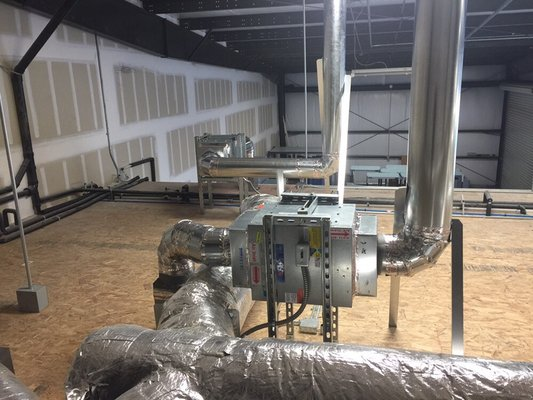 A commercial exhaust fan installed in a building in lathrop ca
