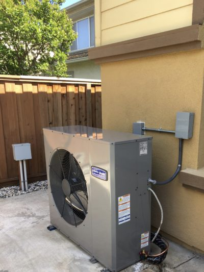 residential air conditioner installation done by irish heating and air HVAC technicians